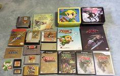 On instagram by mazdabishi #retrogaming #microhobbit (o) http://ift.tt/1WitJzJ of Zelda collection  #nintendo #nes #snes #n64 #gamecube #wii #ds #comics  #collection #lunchbox #gameguide #gameboyadvance #gameboy #beadsprite #zelda #link #hyrule #elf