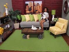 Industrial Chic 1:6 scale living room by Abigail's Joy