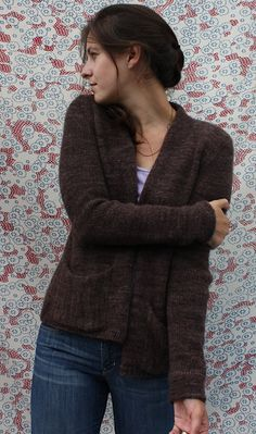 Ravelry: Bailey Cardigan pattern by Amy Christoffers/use BMF sport