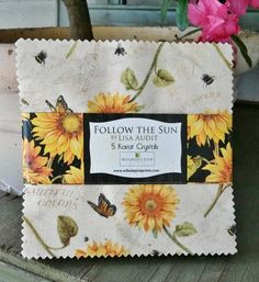 "From the fabric collection 'Follow the Sun' by Lisa Audit for Wilmington Prints... each 5 Karat Crystals pack includes 42 - 5"" squares of fabric..."