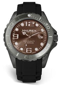 Price:$186.56 #watches Haurex 1K374UGG, Haurex Italy Ink Men's Brown Watch