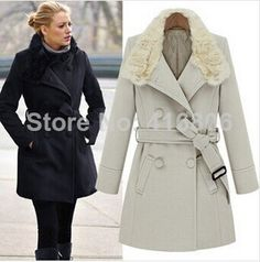 7a40bd9ffb2c8 Aliexpress.com   Buy 2014 New Arrival Fashion Star Style European Fashion  High Quality Trench Coat For Women Stylish Fur Collar Long Coat In Winter  from ...