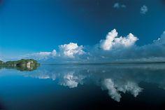 Los Haitises The calmness of the sea at Los Haitises National Park.