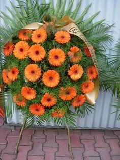 Wieniec pogrzebowy z kwiatu kalia