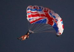 Queen Elizabeth and James Bond parachute into the Olympic Opening Ceremony.