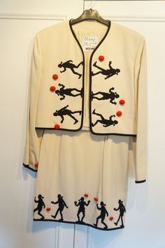 LAYAWAY Possible - MOSCHINO Cheap and Chic Silhouette Haute Couture Vintage '80 Fun Skirt Suit very rare Franco Moschino, Olive Oyl, Skirt Suit, Vintage Fashion, Women's Fashion, What To Wear, Suits, Trending Outfits, My Style
