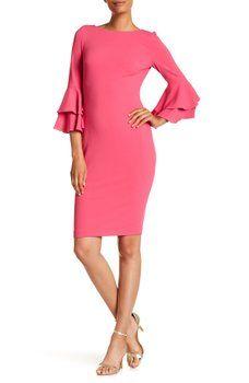 608304b2 Modern American Designer - Ruffled Sleeve Sheath Dress | Clothes I ...
