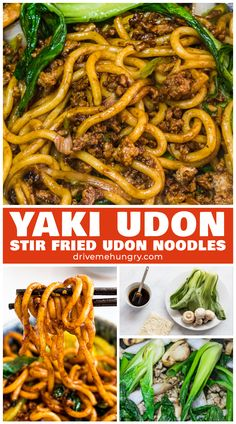 Yaki udon is an easy Japanese stir fried udon noodle recipe ready in 20 minutes! - Yaki udon is an easy Japanese stir fried udon noodle recipe ready in 20 minutes! Stir fried udon no - Asian Noodle Recipes, Asian Recipes, Udon Recipes, Easy Japanese Recipes, Spicy Recipes, Udon Stir Fry, Stir Fry Noodle Sauce, Noodle Sauce Recipe, Stir Fry Noodles