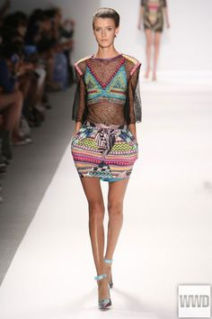 Custo Barcelona RTW Spring 2014  Photo by Todd Matarazzo  The house is known for its loud prints and mix-and-match aesthetic, but for spring, designer Custo Dalman toned things down.  For More
