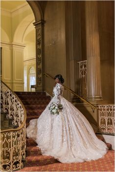 Wow! Dramatic dress and gorgeous bouquet. Bella Fiori, flowers. B. Jones Photography