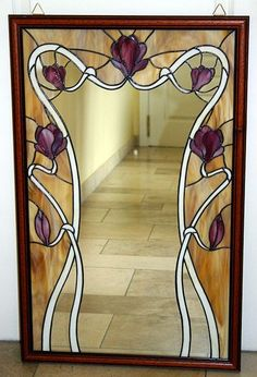 flickr photos stained glass miror | Pin by Maria on Stained Glass - Floral III | Pinterest #StainedGlassMirror
