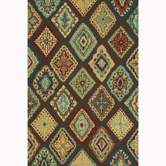 Hand-hooked Blossom Brown/ Multi Rug (3'6 x 5'6) - Overstock Shopping - Great Deals on Alexander Home 3x5 - 4x6 Rugs