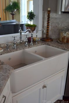 I love this whole kitchen but this is really the color granite and sink i'd like