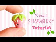 Easy Kawaii Strawberry polymer clay charm tutorial