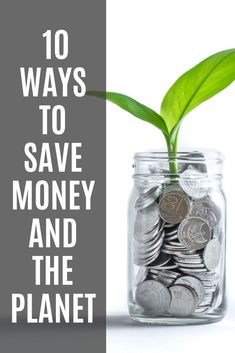It's important to remember going zero waste isn't about buying things! It's best to reuse what you have. So if you want to save money, go green. Here's a bunch of ways you can save money and the planet. Yay! #ecofriendlytips #savemoney