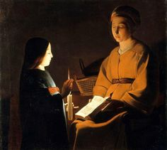 """L'éducation de la Vierge"" - after Georges de La Tour (1593 - 1652)"