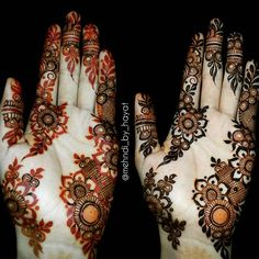 Henna was on the skin for 9 hours. Tip: to increase the life span of henna Add Lemon juice. Henna Art Designs, Mehndi Designs 2018, Modern Mehndi Designs, Mehndi Design Pictures, Wedding Mehndi Designs, Mehndi Designs For Fingers, Beautiful Mehndi Design, Mehndi Images, Mehandi Designs