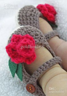 Wholesale - Crochet baby shoes infant girl flower leaves 0-12M 16pairs/lot cotton yarn custom, Free shipping, $3.59-4.92/Piece, 16 pieces/Lot | DHgate.com