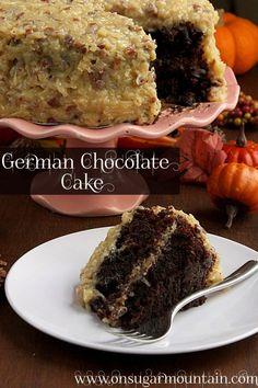 German Chocolate Cake Recipe - my  next birthday cake