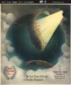 """#Florida is Paradise Regained"" #map (1898) — http://www.bigmapblog.com/2012/florida-is-paradise-regained-1898/"