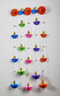 Diwali Decoration Items, Diya Decoration Ideas, Ganpati Decoration At Home, Diwali Decorations At Home, Festival Decorations, Paper Decorations, Diwali Diy, Diwali Craft, Rangoli Designs Diwali