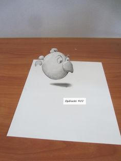 PO-Gallery: September 2014 - 4VV/ 3D-tekening - illusie zweve...
