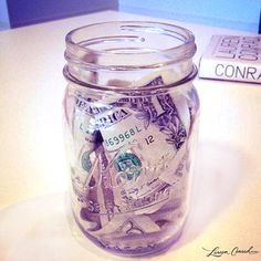 MOTIVATIONAL IDEA: Every time you work out or make a healthy choice, put a dollar in a jar. Soon, you'll have enough saved to buy yourself some hot new workout threads. #motivation #healthy