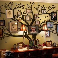 Big Family Photo Tree Wall Decal for Modern Home Original Family Wall Sticker  #popwall