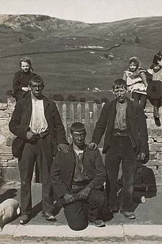 Yorkshire Miners on their way home in 1910 England's Industry was build on their backs and brawn God bless em all
