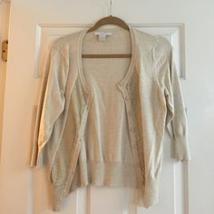 Charlotte Russe cropped 3/4 sleeve cardigan Super cute! Like new! Charlotte Russe Sweaters Cardigans