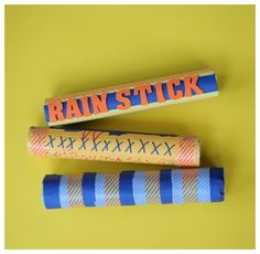 DIY Rainstick: April may bring showers, but your kids can make their own rain sound using recycled paper towel tubes!