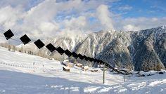 World's FIRST solar powered ski lift in Switzerland. Awesomeness!