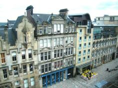 view from the old court building, (now flats) Ingram Street, Merchant City, Glasgow