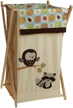 This Forest Friends Hamper would look great on a forest theme nursery room.