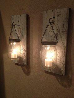 Mason jar lanterns!!
