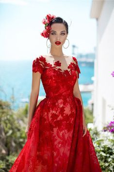 Tarik Ediz 93627 Name: Novel. The fabric in this Tarik Ediz Coutre style is Lace Pretty Quinceanera Dresses, Red Wedding Dresses, Prom Dresses, Formal Dresses, Fashion Dress Up Games, Red Gowns, Designer Wedding Gowns, Sweet 16 Dresses, Dress Collection