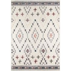 Refresh your decor with the modern design of the Momeni Lima Diamond Rug. Crafted of a polypropylene/polyester blend, this soft and durable rug features a geometric print in a muted color palette. Lima, Contemporary Area Rugs, Accent Rugs, Muted Colors, Beige Area Rugs, Rug Making, Woven Rug, Runes, Rug Size