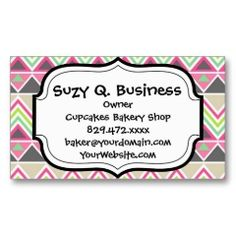 Aztec Andes Tribal Mountains Chevron Zig Zags Business Cards #SOLD on #Zazzle