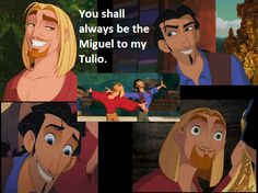 Miguel and Tulio - Unbe-flipping-lievable... me and my bestie have been saying this for YEARS!!!!!!!