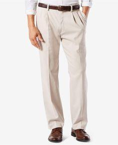 744b391845 Dockers Men's Big & Tall Easy Classic Pleated Fit Khaki Stretch Pants D3 -  Tan/Beige 52x30