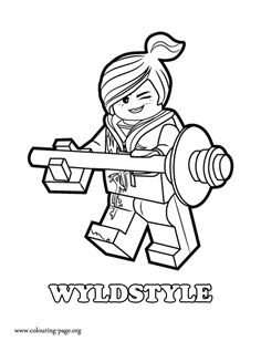 Wyldstyle, a good female fighter coloring page