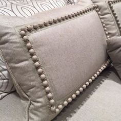 In love with this @Samuel_and_Sons trim! #designprof #nycdesigner #interiordesign #textiles