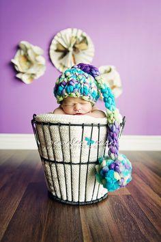 Knitting Pattern Newborn Tall Tales Baby Hat by HeartstringsbyDee, $3.75