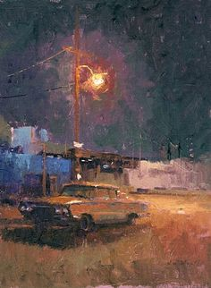 Lincoln Heights by William Wray  Oil 16 x 12