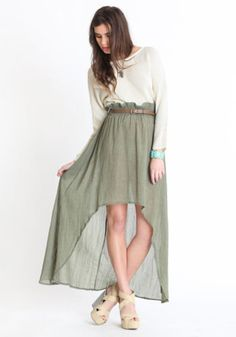 Nimbin High-Low Skirt By MINKPINK - $46.50: ThreadSence, Women's Indie & Bohemian Clothing, Dresses, & Accessories