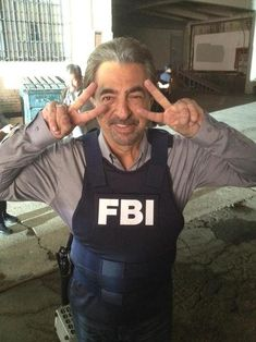 Joe Mantegna on the set of Criminal Minds.