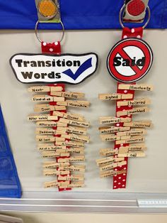 Writing Clips - Getting students to use transition words and creative talking verbs!