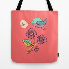 be Tote Bag by sylviedemes Best Tote Bags, Cute Tote Bags, Reusable Tote Bags, Watercolor Pattern, Creations, Girly, Towels, 3d Printing, Stuff To Buy