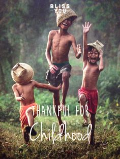 Thankful for childhood www.theblissway.com