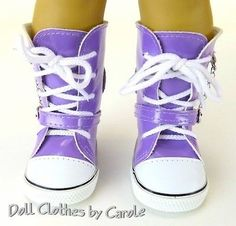 Retired ~ American Girl Doll Grey Yellow Black White Tennis Lace Shoes Sneakers